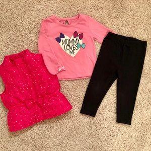 Wonderkids 3 piece pants, puffy vest, & shirt set
